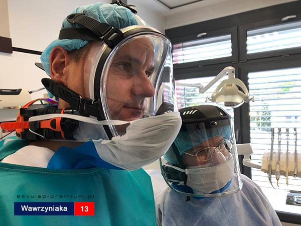 Eskulap Mosina Koronawirus Stomatolog Dentysta Pełne maski twarzowe